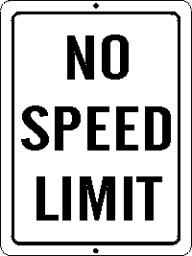 no speed limit sign