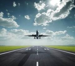 plane takeoff - small